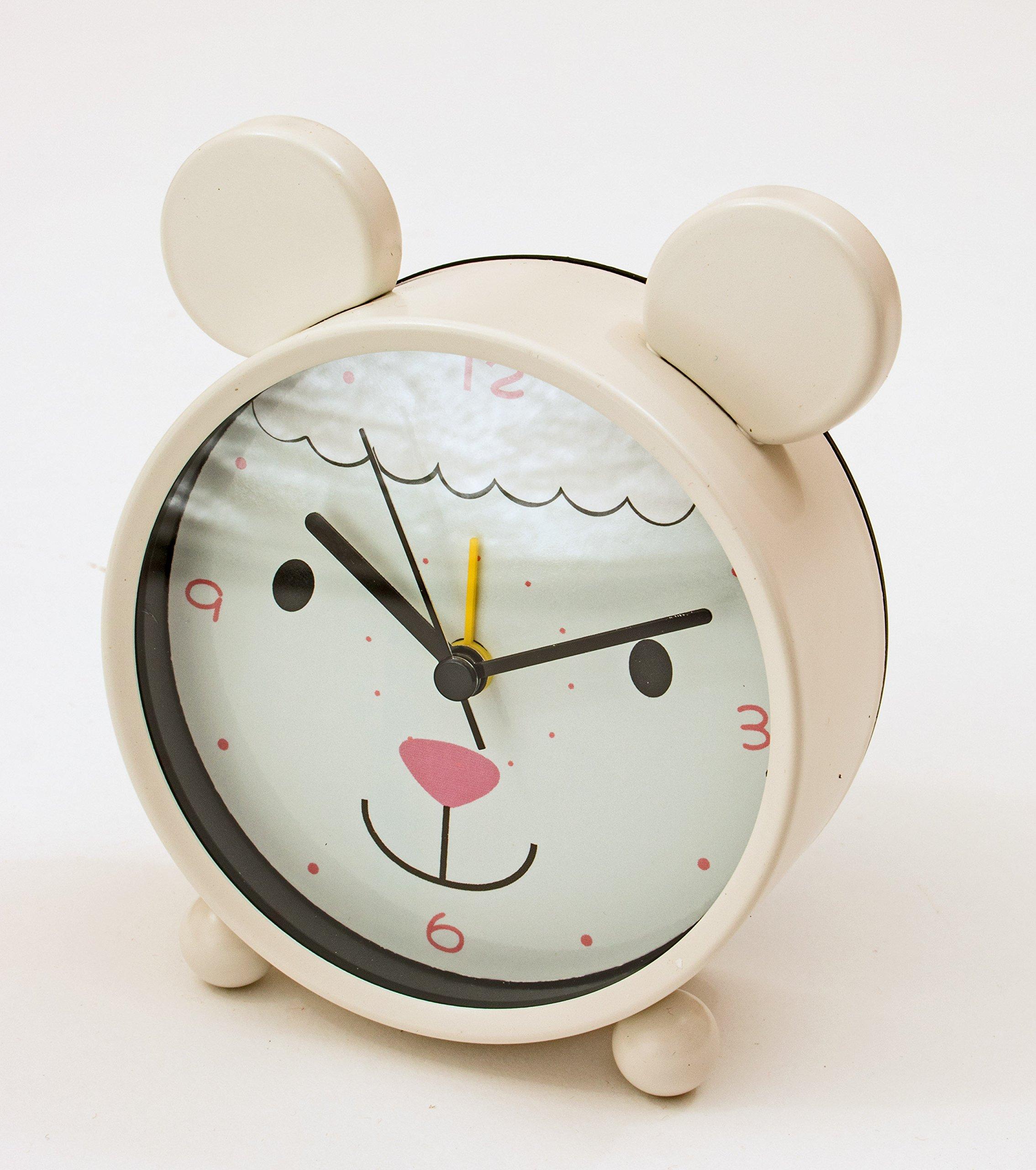 MW Lamb Small Animal Table Clock 4X1.5X5