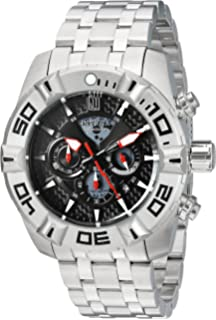 Invicta Mens JT Quartz Stainless Steel Casual Watch, Color:Silver-Toned