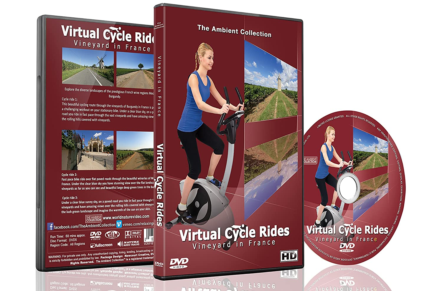 Virtual Cycle Rides - Vineyard in France for Indoor Cycling ...