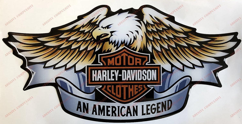 Pegatina con logo Harley Davidson, Águila, efecto 3D. Para depósito o casco.: Amazon.es: Coche y moto