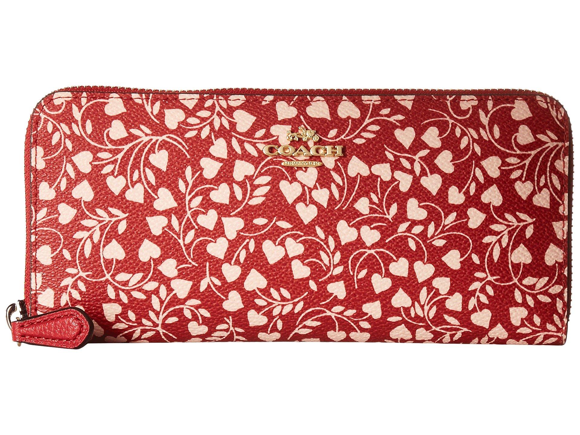 COACH Women's Slim Accordion Zip Wallet Li/Love Leaf One Size