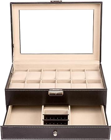 TRESKO Caja para joyas joyero caja de joyas organizador de joyas ...