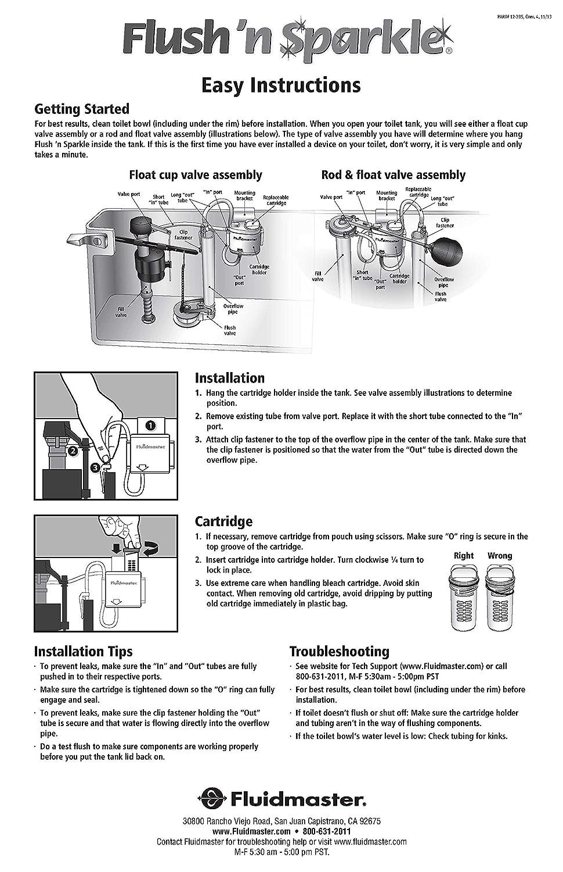 Amazoncom Fluidmaster P Flush N Sparkle Bleach Kit Home - Toilet bowl tank parts