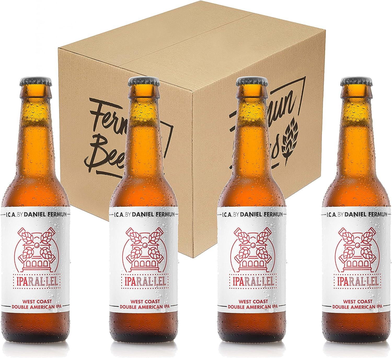 Pack de 4 Botellas 33CL Cerveza artesana Fermun Beer Iparal·lel Double IPA: Amazon.es: Alimentación y bebidas