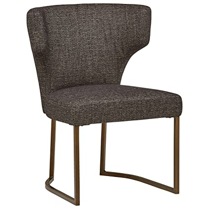 Remarkable Rivet Dunford Modern Dining Chair 33 Inch Height Tuxedo Grey Bralicious Painted Fabric Chair Ideas Braliciousco