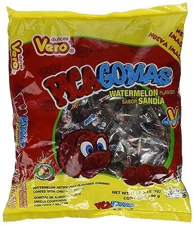 Vero Pica gomas Sandia Sandía Sabor mexicano Candy: Amazon ...