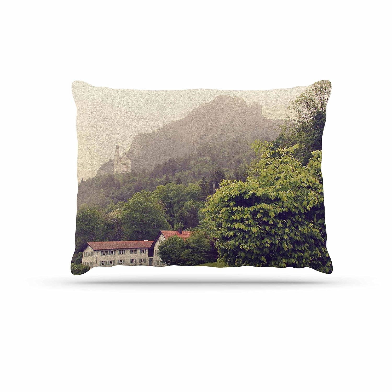 KESS InHouse Sylvia Coomes German Beauty Green Travel Dog Bed, 30  x 40