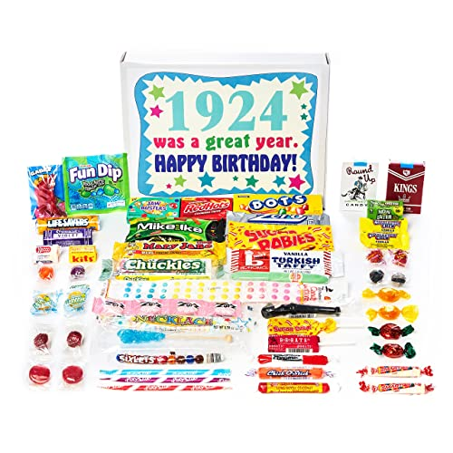 Woodstock Candy 1924 94th Birthday Gift Box Of Nostalgic Retro From Childhood For 94