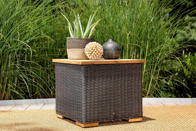 La-Z-Boy Outdoor New Boston Resin Wicker Patio Furniture Side Table