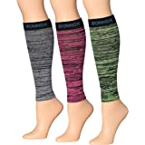 Ronnox Women's 3-Pairs Bright Colored Calf Compression Tube Sleeves