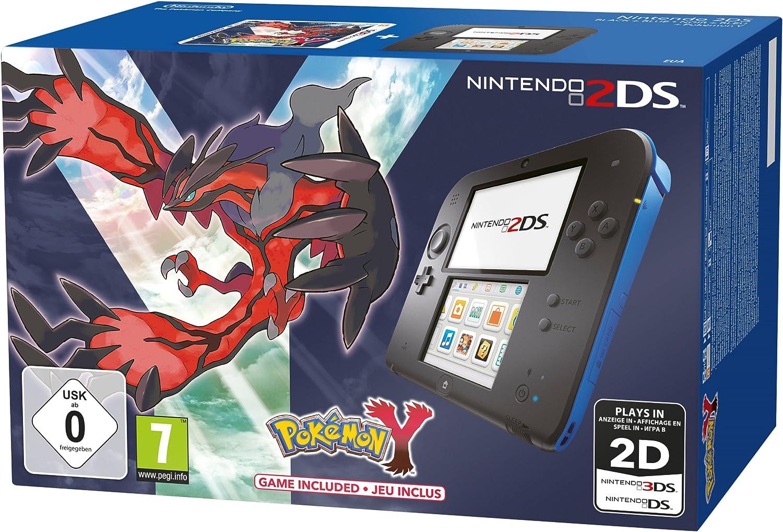 Console Nintendo 2Ds - noir & bleu + Pokémon Y - édition limitée ...