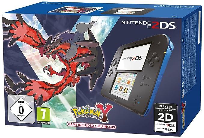 Console Nintendo 2Ds - noir & bleu + Pokémon Y - édition ...
