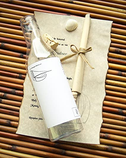 Amazon Com Message In A Bottle Destination Wedding Invitation