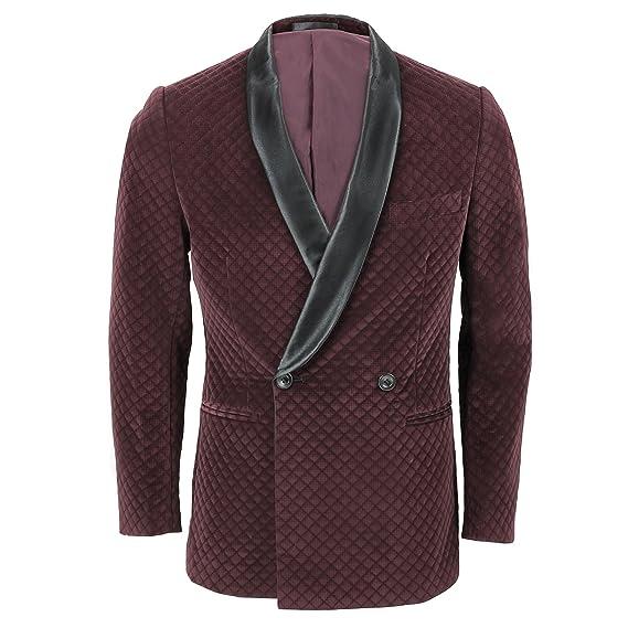 PAMONI - Chaqueta de traje - para hombre rojo Wine: Amazon ...