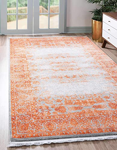 Unique Loom New Classical Collection Traditional Distressed Vintage Classic Terracotta Area Rug 10' 0 x 13' 0