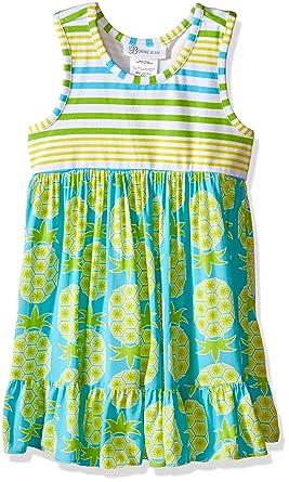 4fa02973744 Bonnie Jean Little Girls' Toddler Stripe to Pineapple Challis Sundress,  Turquoise, ...