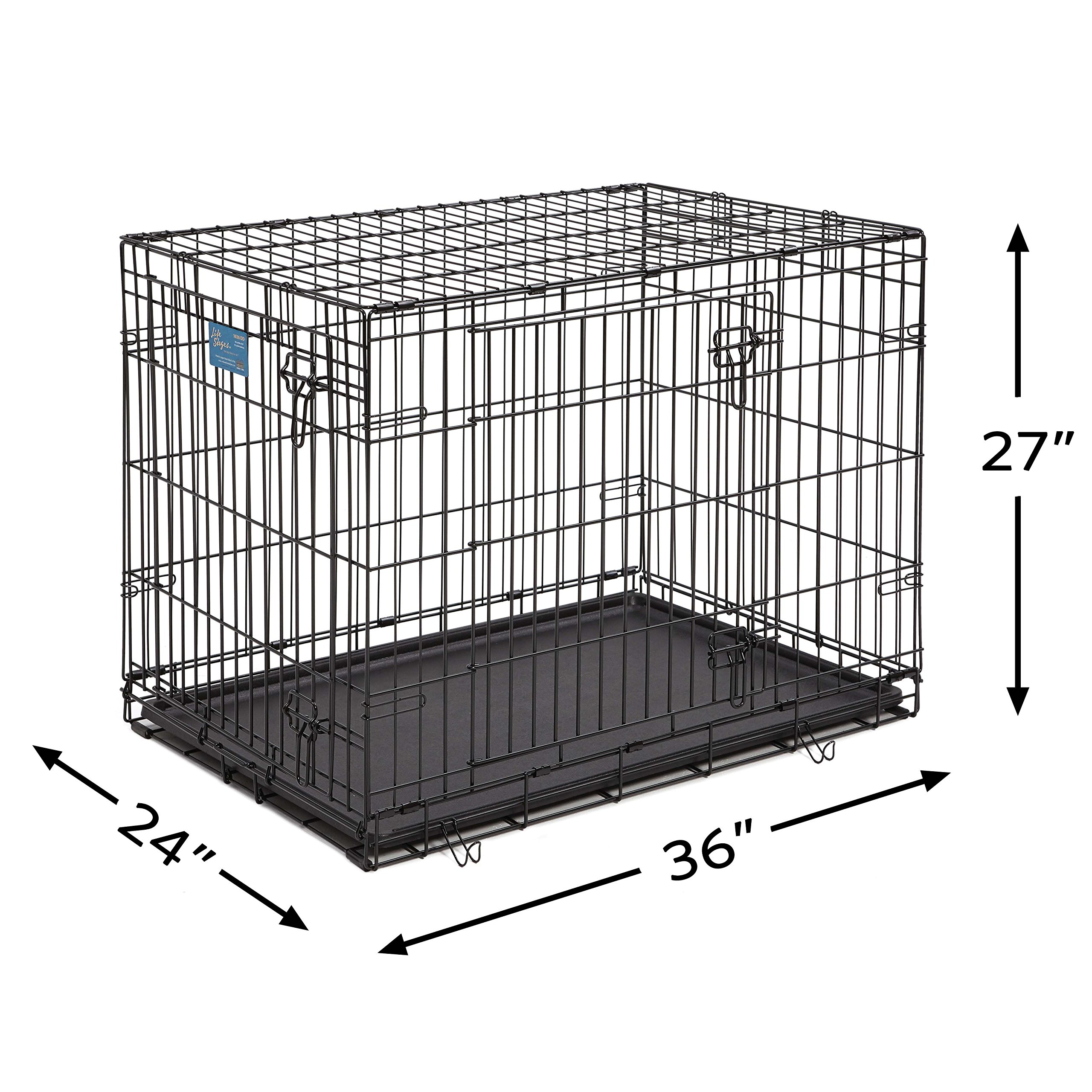 Dog Crate Midwest Life Stages 36 Double Door Folding Metal Dog