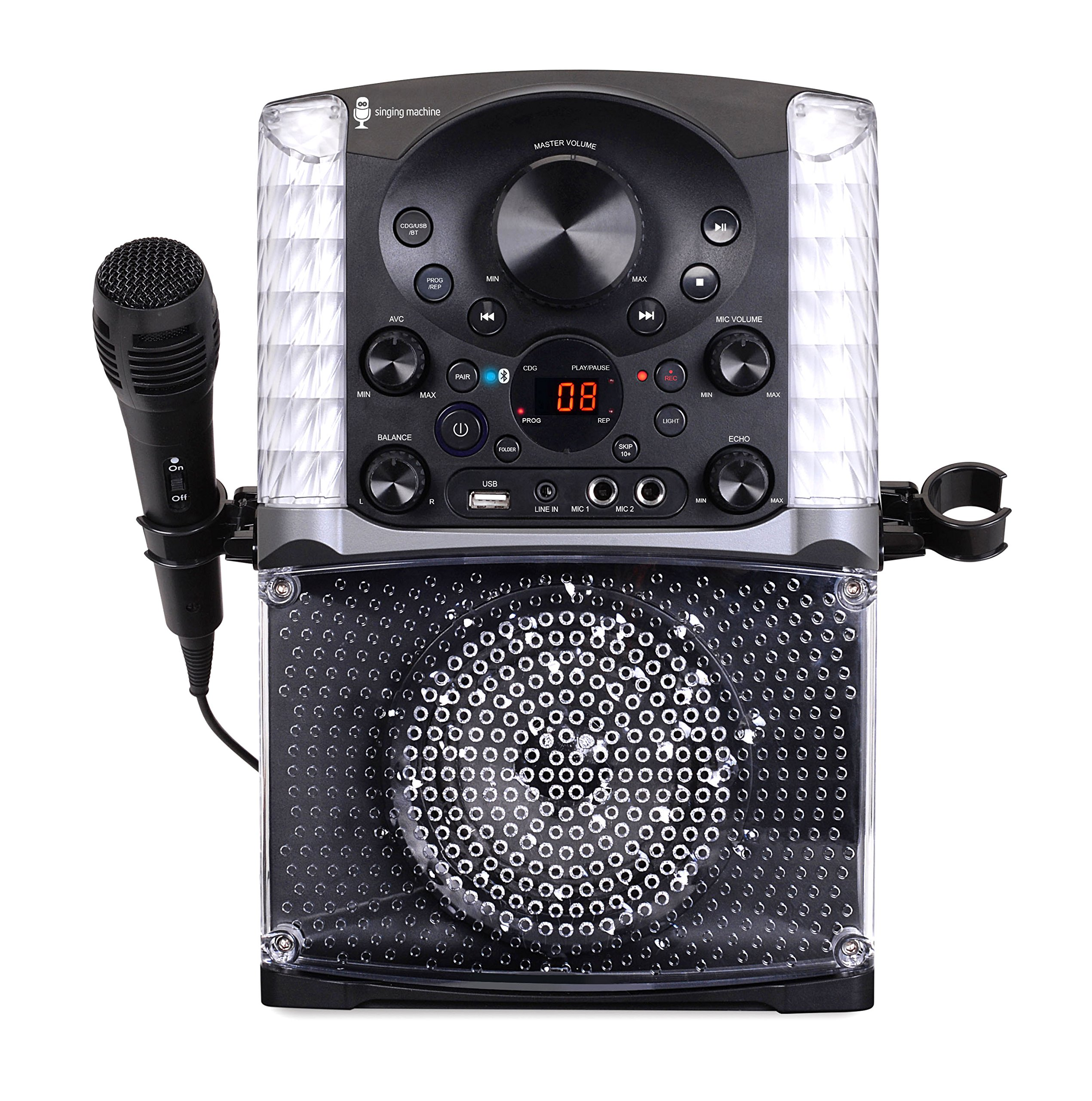 Singing Machine SML625BTBK Bluetooth CD+G Karaoke System Black by Singing Machine (Image #5)