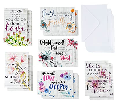 Quote Cards Extraordinary Amazon Inspirational Quote Cards 48Pack Inspiring Religious
