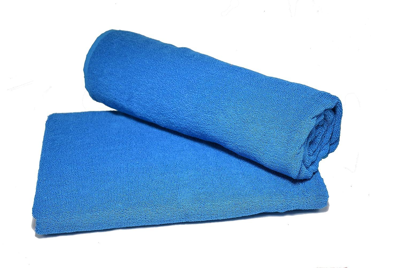 Hashcart Soft Absorbent Cotton Towel Sheets/Bath Sheets/Bath Washcloths/White Cotton Bath Towel Sets for Bathroom, Beach, Spa, Pool HC-TWL-C-3060-TRQ+2