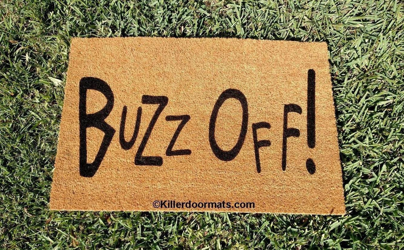 Amazon.com: Buzz Off! Custom Doormat, Size Large by Killer ...