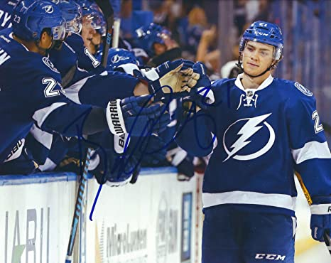 100% authentic cbd05 cb5b0 Autographed Brayden Point Tampa Bay Lightning 8x10 Photo at ...
