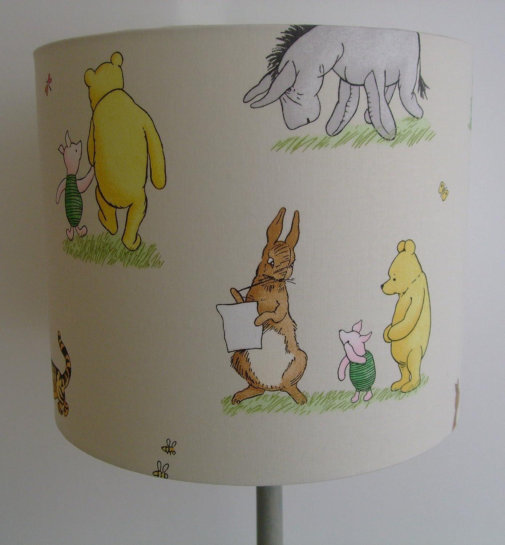 Disney Vintage Winnie The Pooh and Friends - Handmade Nursery Ceiling Lampshade 30cm Drum