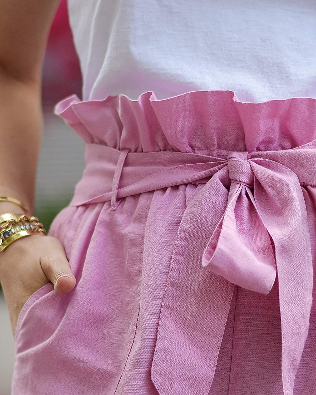vestibilit/à morbida rosa orchidea by @paolaalberdi The Drop Pantaloncini da donna vita paper bag