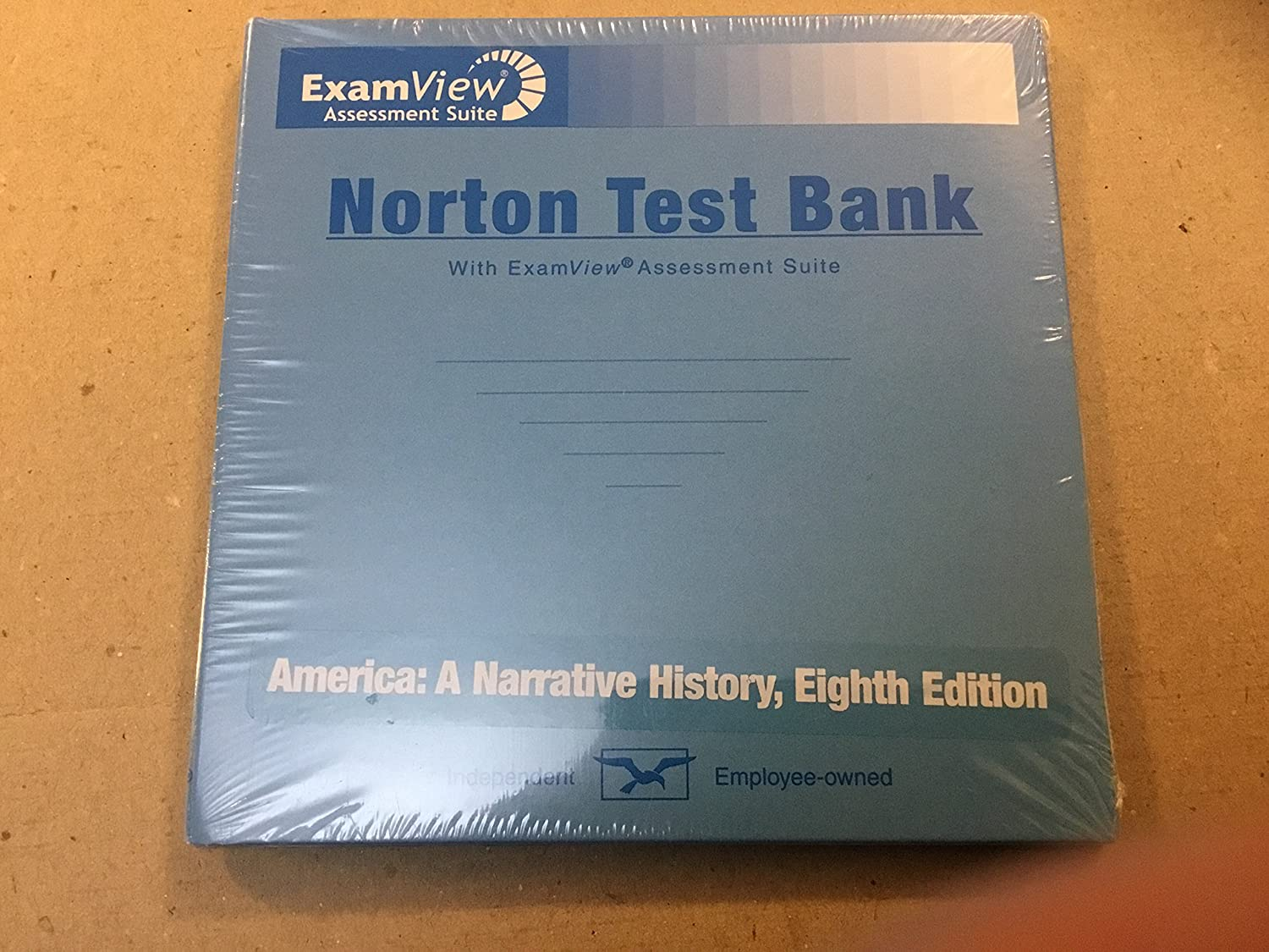 Amazon.com: Norton Test Bank with ExamView Assessment Suite (America: A  Narrative History, 8th edition)