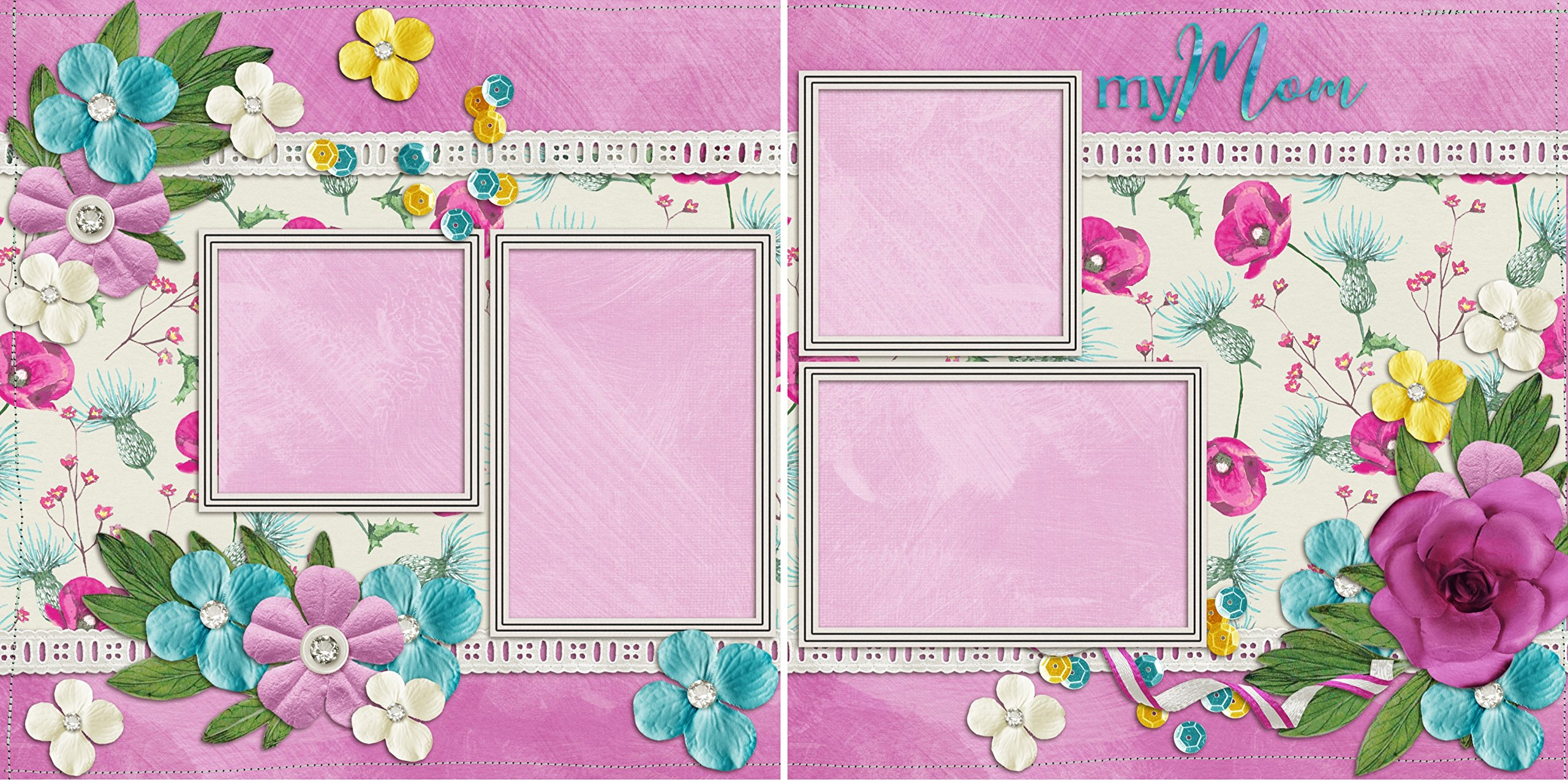 All Seasons Holidays Scrapbook Set - 14 Double Page Layouts