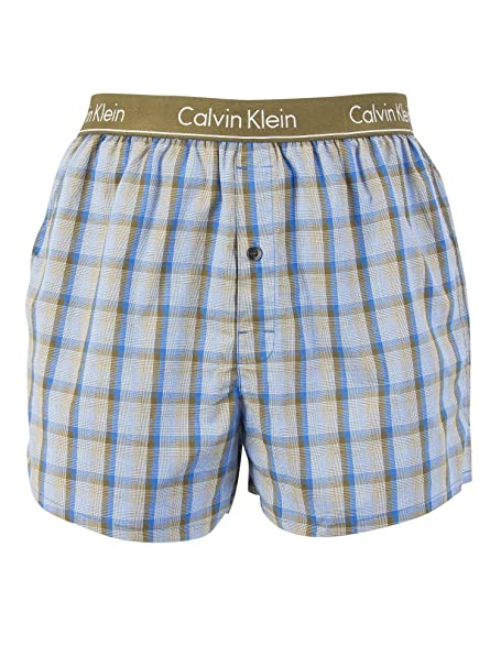 Calvin Klein Hombre Slim Fit Boxer Trunks, Azul