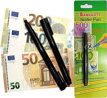 20 Stück Geldscheinprüfer Stift Stifttester Falschgeldtester Banknotentester