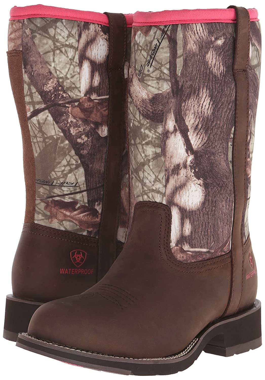 Ariat Women's Fatbaby All Weather Western Cowboy Boot B00U9Y491S 7 B(M) US|Palm Brown/Camo Neoprene