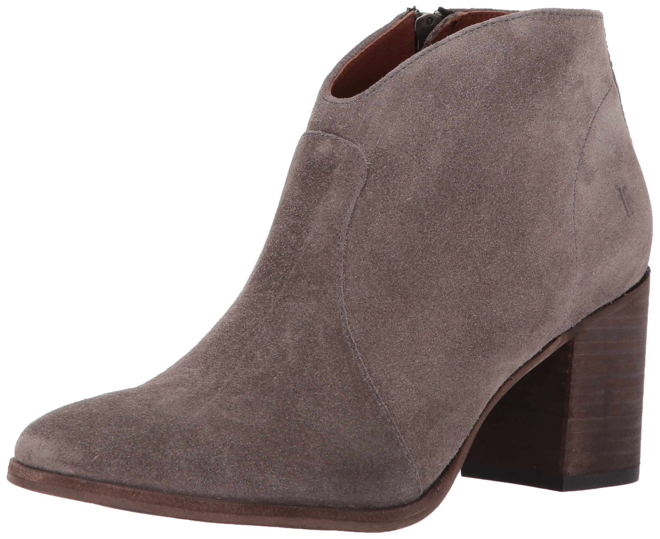 FRYE Women's Nora Short Inside Zip Boot, Elephant Soft Oiled Suede, 10 M US