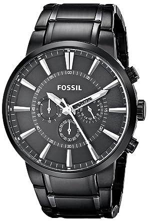 fossil mens black ip chronograph fs4778 fossil amazon co uk watches fossil mens black ip chronograph fs4778