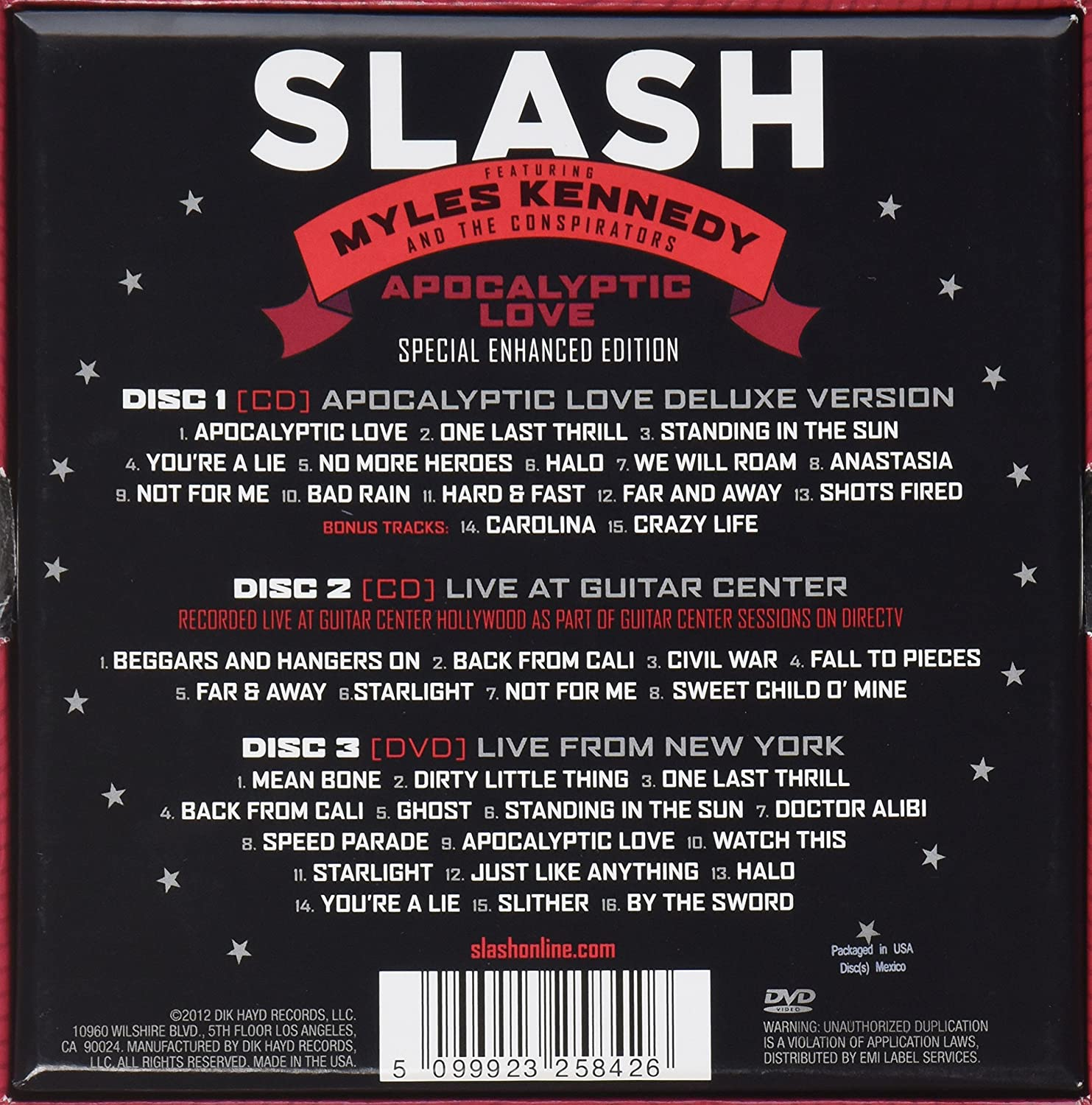 Apocalyptic Love: Slash, Myles Kennedy & The Conspirators: Amazon.es: Música
