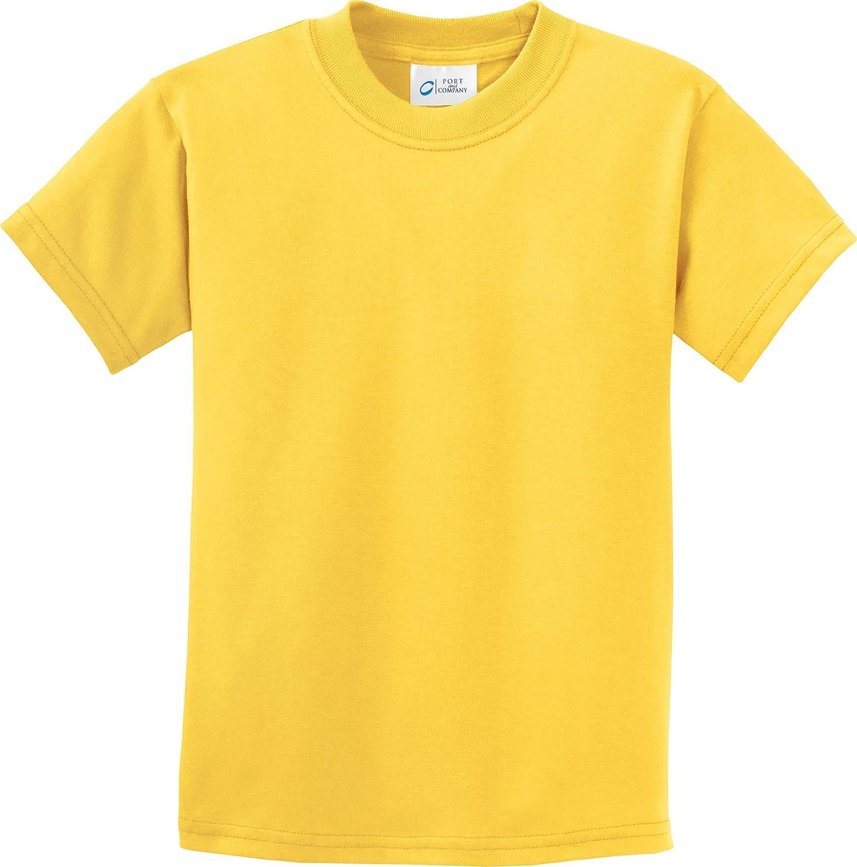 Port /& Company-Youth 100/% Cotton Essential T-Shirt PC61Y-Lemon Yellow