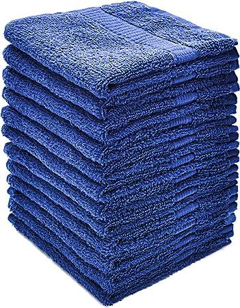 alurri manopla Juego de toallas, 12 unidades, extra suave toallas de algodón punta de los dedos,