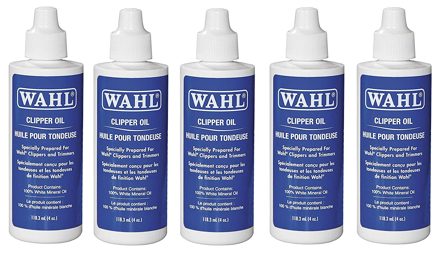 Wahl Clipper Oil , Clear, 5 Pack