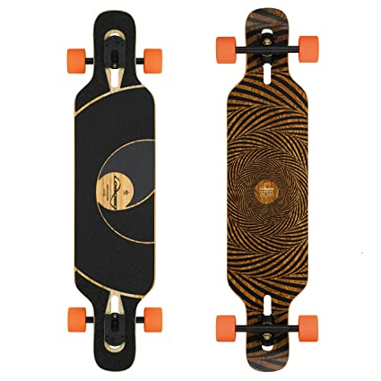 Loaded Boards Tan Tien Bamboo Longboard Skateboard Complete 80a Stimulus Flex 1
