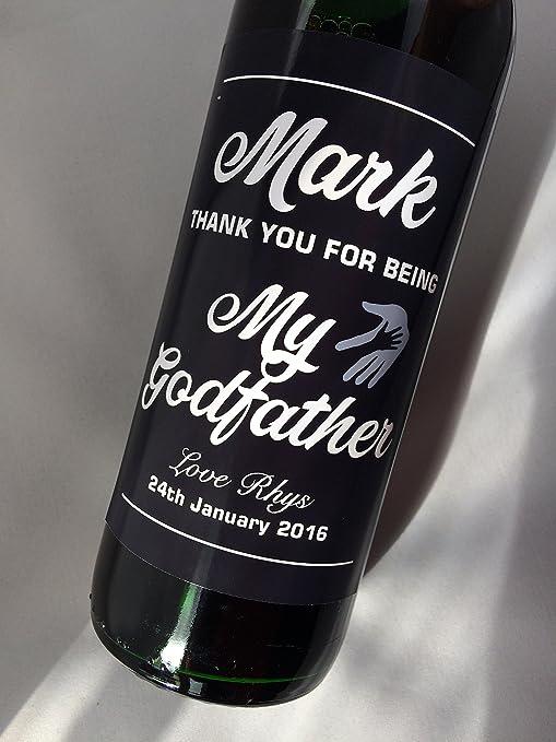 Botellas De Vino Para Regalar En Bautizos.Personalizado Gracias Por Ser Mi Padrino Regalo De