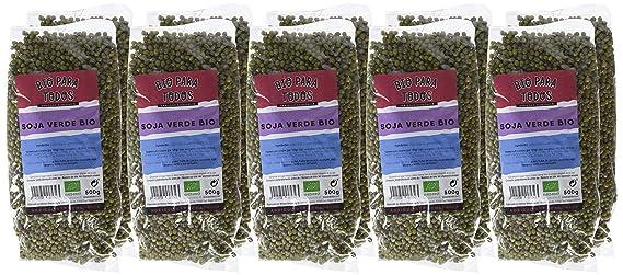 Bio para todos Soja Verde Mungo - 10 Paquetes de 500 gr - Total: 5000 gr: Amazon.es: Alimentación y bebidas