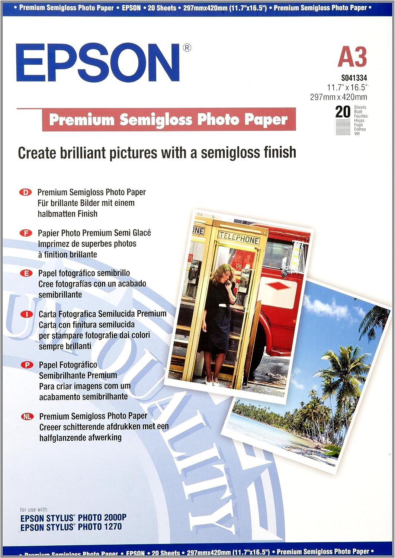 Epson Premium Semigloss Photo Paper - Papel fotográfico: Epson ...