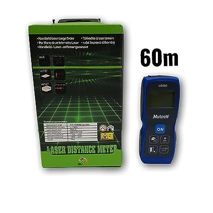 60m Laser Distance Meter Range Finder LCD Area Volume Measuring Tool Green