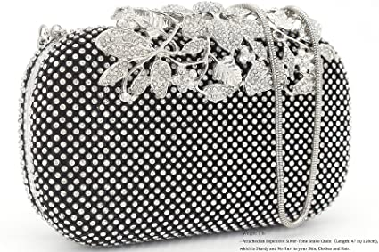 4c997b627f Buy Dexmay Flower Rhinestone Crystal Clutch Purse Luxury Evening Bag ...