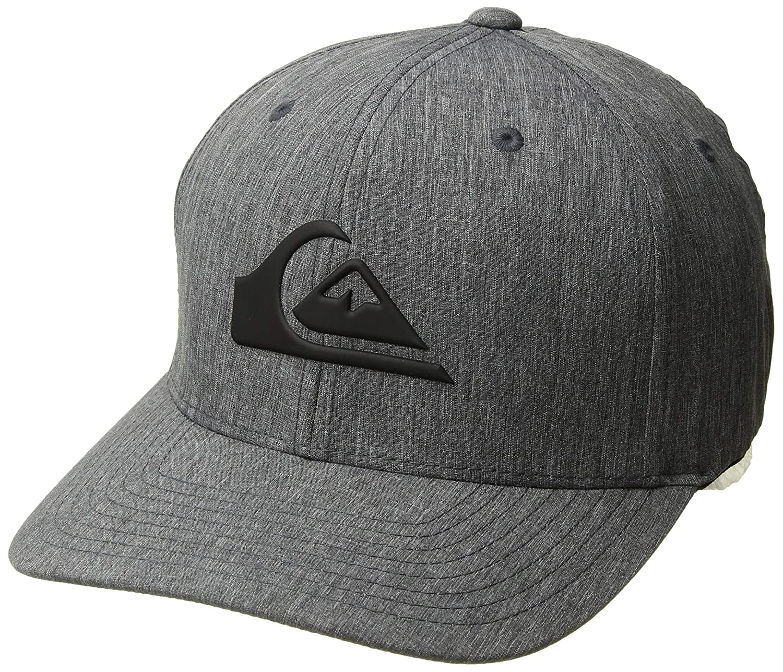 new style f698e ca5c0 Amazon.com  Quiksilver Men s Amped UP Trucker HAT, Black, 1SZ  Clothing