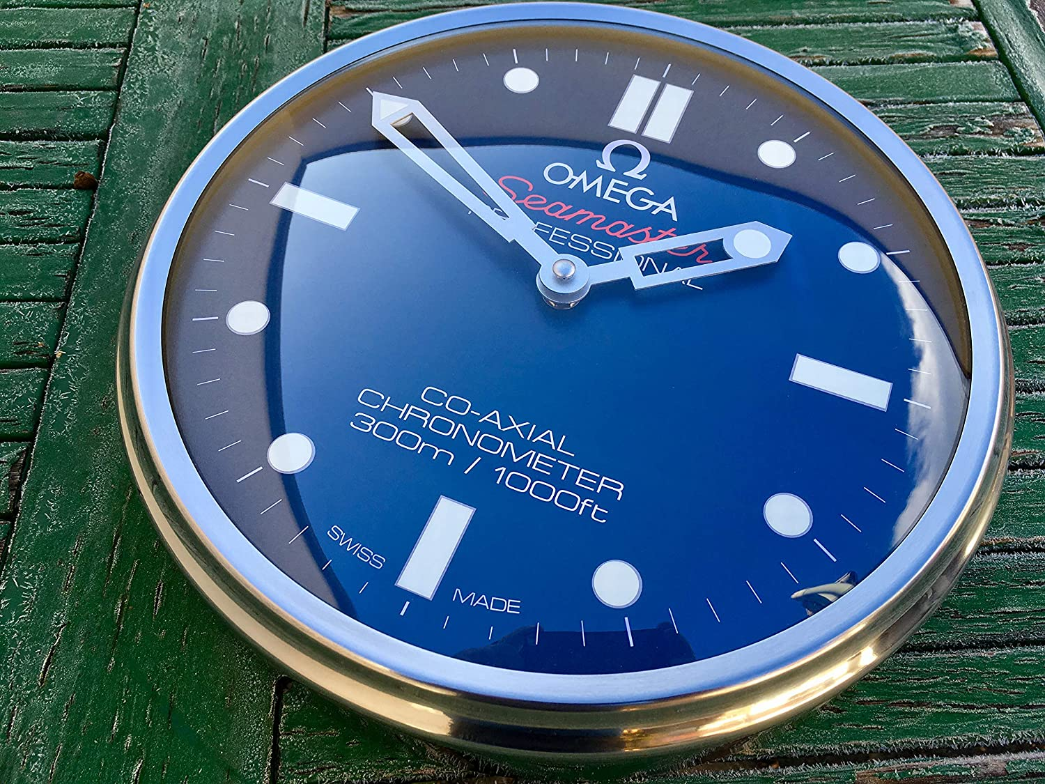 Amazon.com : Omega Seamaster Blue Dealer Wall Clock : Everything Else