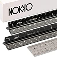 NOKKO Architectural and Engineering Scale Ruler Set - Professional Measuring Kit for Drafting, Construction - Imperial…