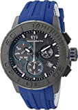 Technomarine Men's Quartz Watch with Grey Dial Chronograph Display and Blue Silicone Strap TM-515003
