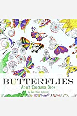Adult Coloring Book: Butterflies Paperback